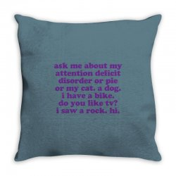 Funny ADHD quote Throw Pillow | Artistshot