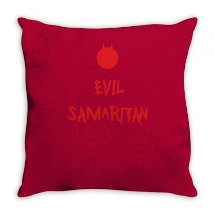 Evil Samaritan Funny Throw Pillow Designed By Tonyhaddearts