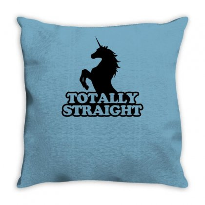 Totally Straight Throw Pillow Designed By Tonyhaddearts