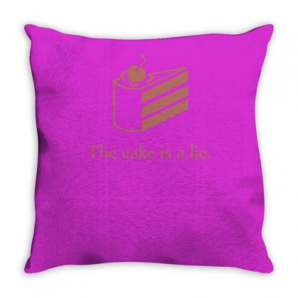 Cake Is A Lie Throw Pillow Designed By Tonyhaddearts