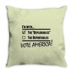 Deplorables America Throw Pillow | Artistshot