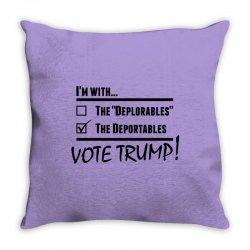 Donald Trump Deportables Throw Pillow | Artistshot