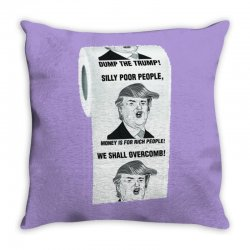 funny donald trump toilet paper Throw Pillow | Artistshot