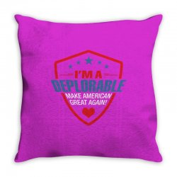 I Am A Deplorable Throw Pillow | Artistshot