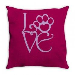 love paw Throw Pillow | Artistshot