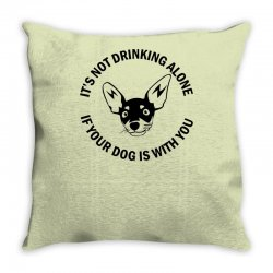 funny drinking dog Throw Pillow | Artistshot