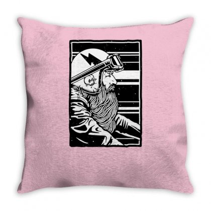 Beard And Ride Throw Pillow Designed By Tonyhaddearts
