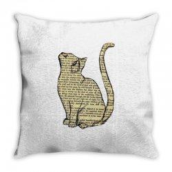 cats text Throw Pillow | Artistshot
