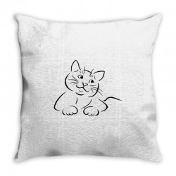 the cat simple Throw Pillow | Artistshot