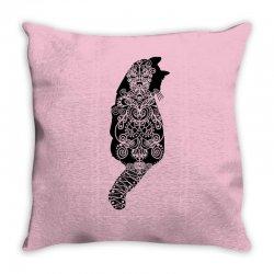cats black Throw Pillow   Artistshot