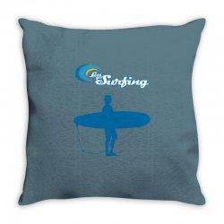 the surfing Throw Pillow | Artistshot