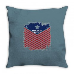 USA Flag Vector Throw Pillow | Artistshot
