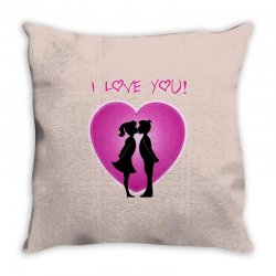 I love you Throw Pillow | Artistshot