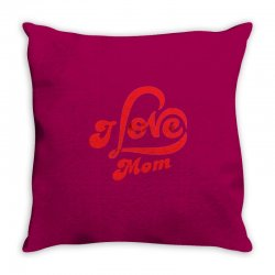 I love mom Throw Pillow | Artistshot