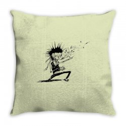 Zombie Music Throw Pillow | Artistshot
