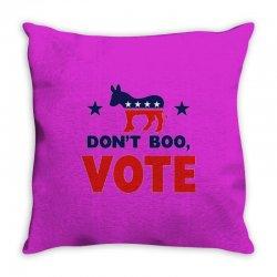 Don't Boo Vote 02 Throw Pillow | Artistshot