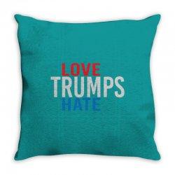 LOVE TRUMPS HATE Throw Pillow | Artistshot