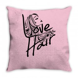 love is in the hair Throw Pillow   Artistshot
