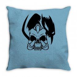 music skull Throw Pillow | Artistshot