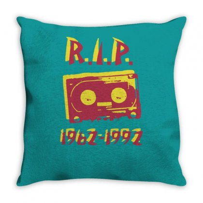 Retro Cassette Tape Rip Throw Pillow Designed By Tonyhaddearts