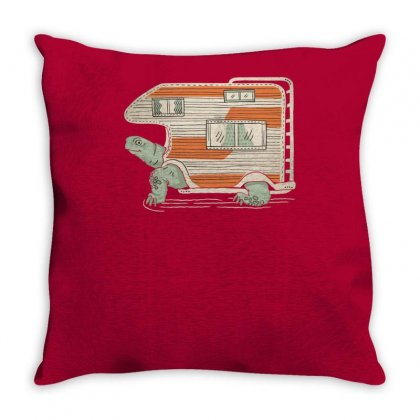 Turtle Camper Throw Pillow Designed By Tonyhaddearts