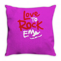 love to rock em Throw Pillow | Artistshot