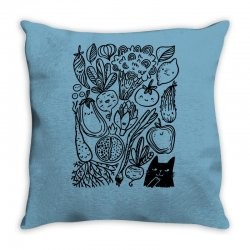funny vegetables Throw Pillow | Artistshot
