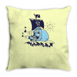 musical ship Throw Pillow | Artistshot