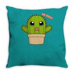 funny cactus hug Throw Pillow | Artistshot