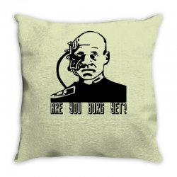 geek borg Throw Pillow | Artistshot