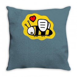 love bee lover valentine Throw Pillow | Artistshot