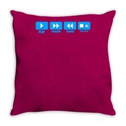 music freak cd player Throw Pillow | Artistshot