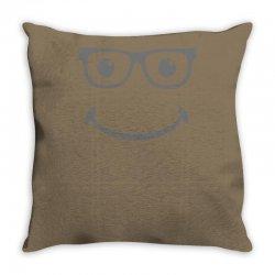 geek smiley Throw Pillow | Artistshot