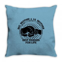 Big Brother And Lil Brother Best Friends For Life Throw Pillow | Artistshot