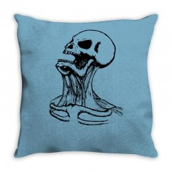 screaming skull Throw Pillow | Artistshot