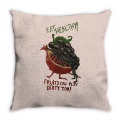 eat fruits Throw Pillow | Artistshot