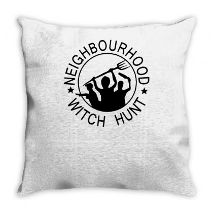 Neighbourhood Witch Hunt Throw Pillow Designed By Tonyhaddearts