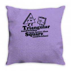 triangular sandwiches Throw Pillow   Artistshot