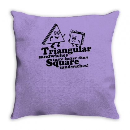 Triangular Sandwiches Throw Pillow Designed By Tonyhaddearts