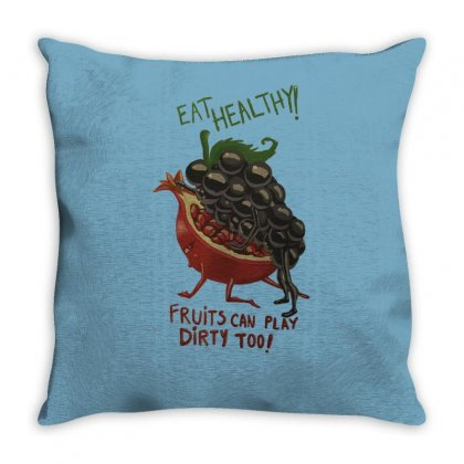Eat Fruits Throw Pillow Designed By Tonyhaddearts
