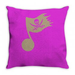 music pirate Throw Pillow | Artistshot