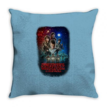 Stranger Things Poster Throw Pillow Designed By Vr46