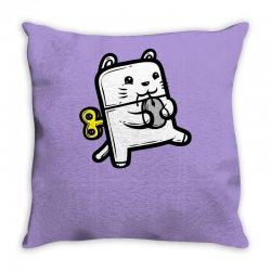 Robo Cat Throw Pillow | Artistshot