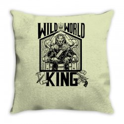 Wild World King Throw Pillow | Artistshot