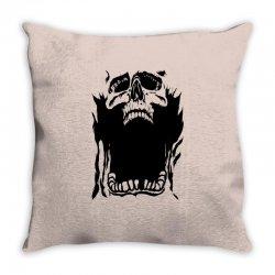 Screaming skull Throw Pillow   Artistshot