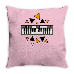 music,keyboard,electronic,piano,triangle,reflections,cute,vectorart, Throw Pillow | Artistshot