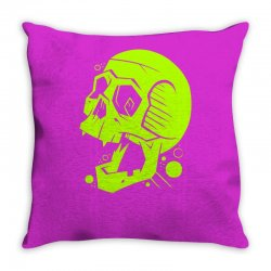 Toxic Scream Throw Pillow | Artistshot