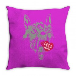 screaming wolf love you Throw Pillow | Artistshot