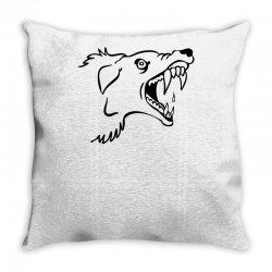Screaming Mad Dog Throw Pillow | Artistshot