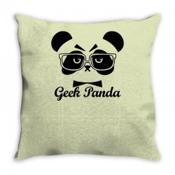 Geek Panda Throw Pillow | Artistshot